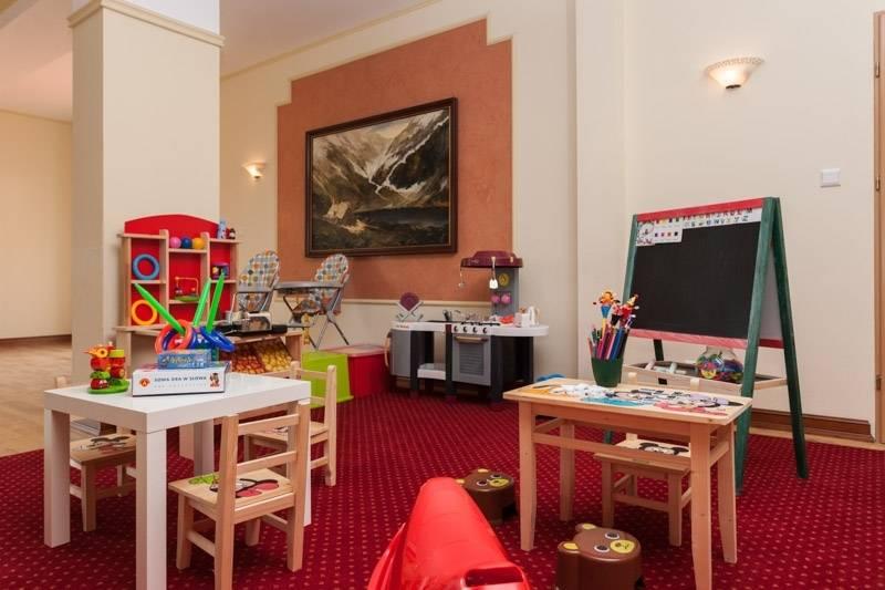 Zdjęcie ma na celu pokazanie możliwości, jakie przed dziećmi otwierają się w pokoju zabaw - resort Bałtyk w Rewalu.