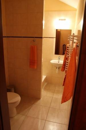 Widok na łazienkę w pokoju EUROBAŁTYK Pensjonat i Domki w Rewalu nad morzem