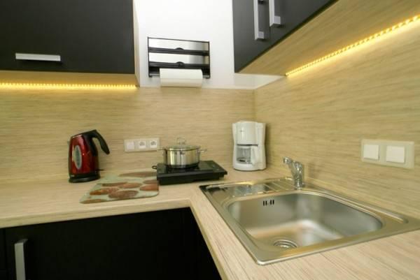Podstawą aneksu kuchennego jest kompleksowe wyposażenie - apartament Apartamenty POD MUZAMI (Rewal).