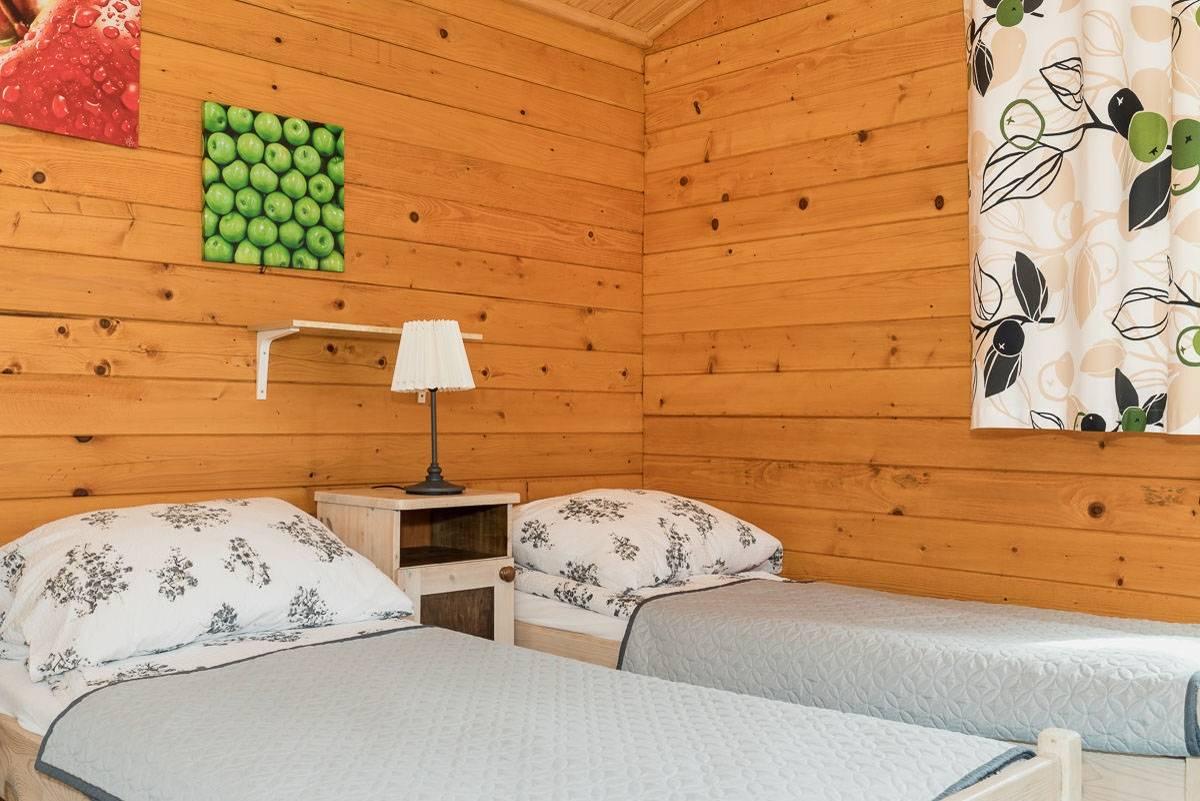 Ośrodek Wypoczynkowy Domki i Pokoje BOSMAN w Rewalu - zdjęcie łóżka