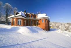 Zima w Karpaczu i nad pokojem Willa ARCHITEKT (ul. Podleśna 3).