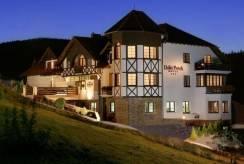 Hotel Hotel DZIKI POTOK ***  Konferencje & SPA w Karpaczu nocą.