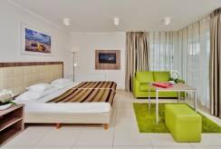 Łoże małżeńskie w pokoju - BALTIC CLIFF Apartments Spa&Wellness