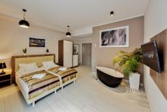 apartament BALTIC CLIFF Apartments Spa&Wellness - łoże małżeńskie w pokoju